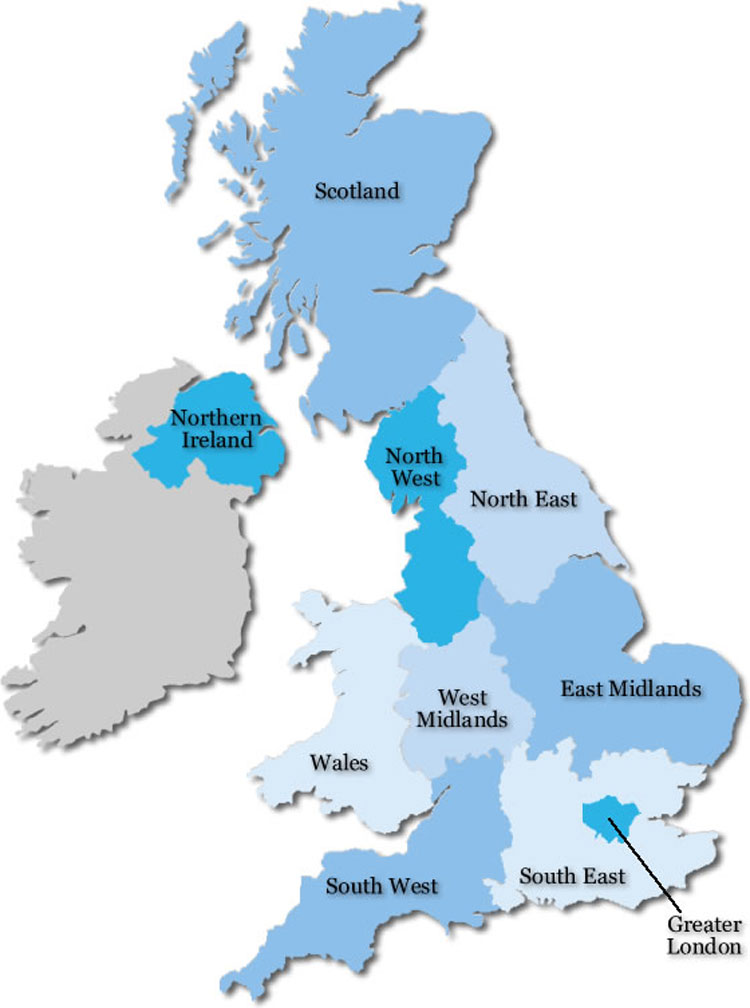 Uk Map Uk Logistics